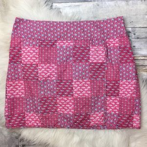 Vineyard Vines Patchwork Pink Skirt